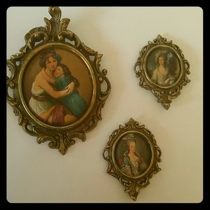 Antique pictures set of 3